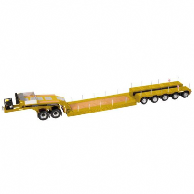 NZG Nooteboom EURO-PX 5-AXLE + 2-AXLE Jeep Dolly Trailer Yellow RAL 1007